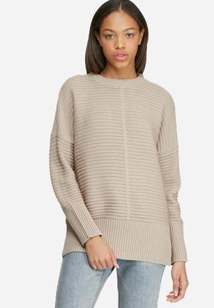 Dailyfriday Ribbed Slouchy Knit Knitwear Light Brown