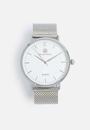 Dailyfriday Alice Mesh Watch Silver