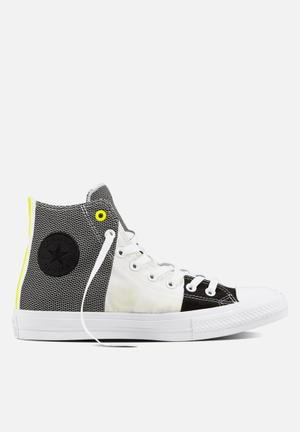 Converse Chuck Taylor All Star Hi Engineered Woven Sneakers White/Black/Yellow