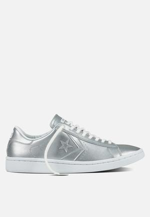 Converse Cons SLS Pro Leather Sneakers Silver/White