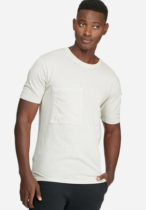 Only & Sons Tao Slim Tee T-Shirts & Vests Cream & Grey
