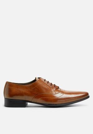 Basicthread Jonathan Leather Oxford Formal Shoes Tan