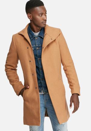 Only & Sons Oscar Coat Tan
