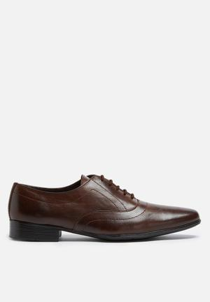 Basicthread Jonathan Leather Oxford Formal Shoes Dark Brown