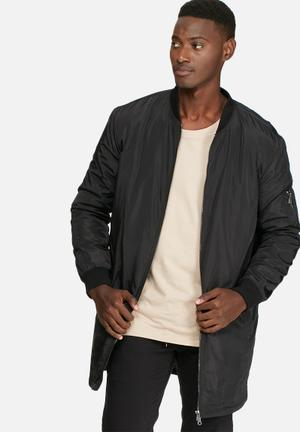 Only & Sons Camp Long Padded Bomber Jackets Black