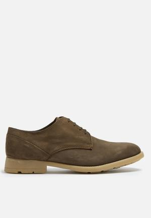 Basicthread Connor Leather Derby Formal Shoes Brown