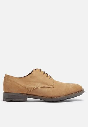 Basicthread Connor Leather Derby Formal Shoes Tan