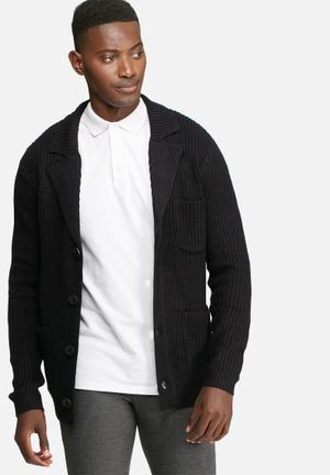 Only & Sons Casimir Knitted Blazer Jackets Black