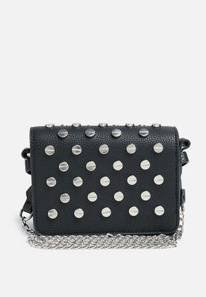Missguided Mini Studded Cross Body Bag Black