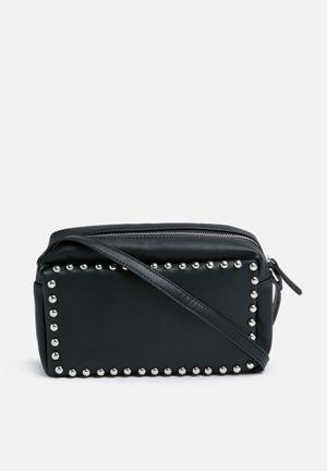 Missguided Studded Cross Body Bag Black