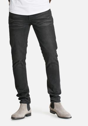 Sergeant Pepper Stovepipe Rigid 12oz Tapered Jeans Black & Grey