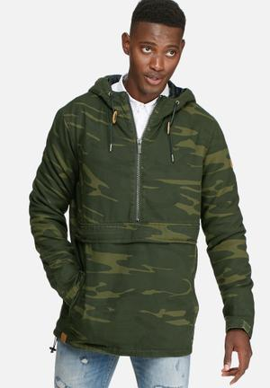Sergeant Pepper Camo Hooded Pullover Jacket Green