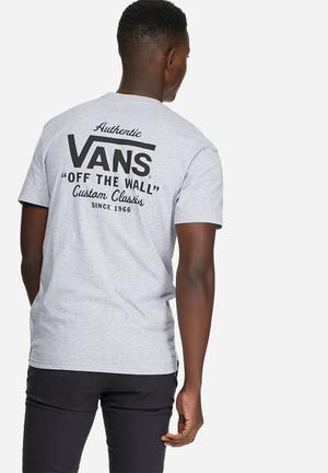Vans Holder Classic Tee T-Shirts & Vests Grey & Black