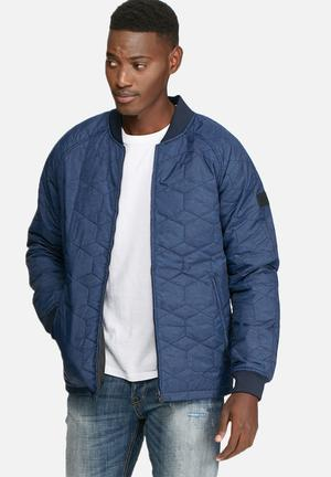 Jack & Jones Core Hexagon Puffer Jacket Blue