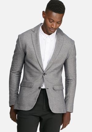 Jack & Jones Premium Harry Slim Sweat Blazer Jackets & Coats Grey