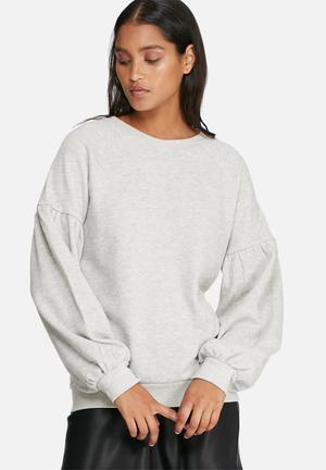 Vero Moda Puffy Sweat T-Shirts, Vests & Camis Grey Melange