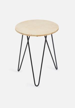 Sixth Floor Hairpin Table Wood & Metal