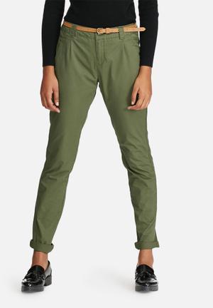 Vero Moda Bondi Chino Pants Trousers Khaki