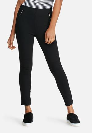 Vero Moda Strong Zip Ankle Pants Trousers Black