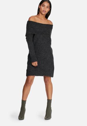 ONLY Bergen Dress Formal Charcoal Melange