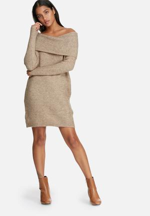 ONLY Bergen Dress Formal Soft Brown