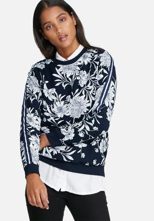 ONLY Flower Pullover T-Shirts, Vests & Camis Navy