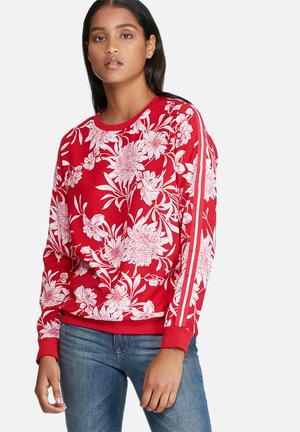 ONLY Flower Pullover T-Shirts, Vests & Camis Red