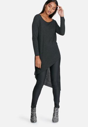ONLY Winnie Asymmetrical Tee T-Shirts, Vests & Camis Dark Green & Black