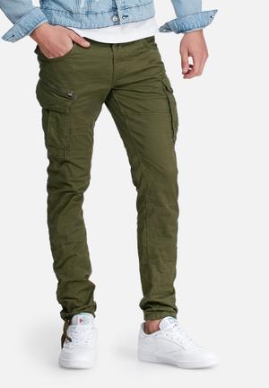 Jack & Jones Jeans Intelligence Paul Cargo Pant Olive