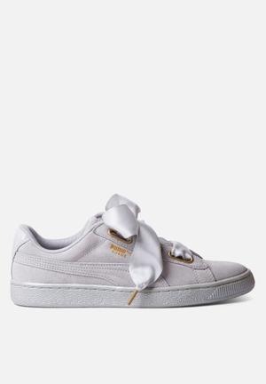 PUMA W Suede Heart Satin Sneakers Grey Violet