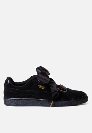 PUMA W Suede Heart Satin Sneakers Puma Black