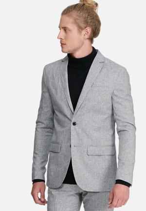 Jack & Jones Premium Thomas Slim Blazer Jackets & Coats Grey