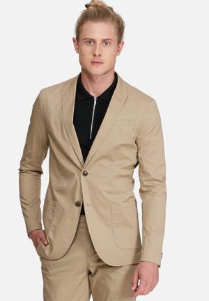 Jack & Jones Premium Bart Blazer Jackets & Coats Stone