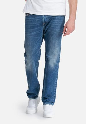 Diesel  Buster Tapered Fit Jeans Blue
