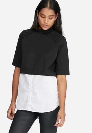 Noisy May Yasi Top Blouses Black & White