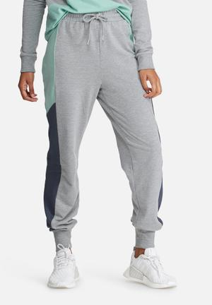 Noisy May Fredy Sweat Pants Trousers Grey, Navy & Mint