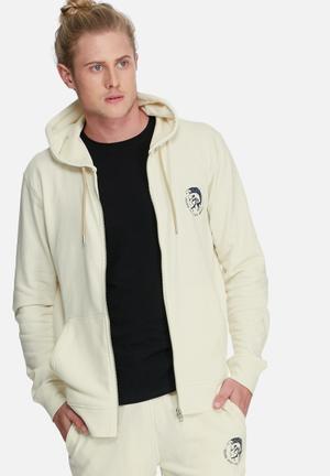 Diesel  Brandon Hoodie Hoodies & Sweatshirts Cream & Black