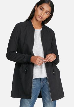 Jacqueline De Yong Avela Treasure Long Jacket Black