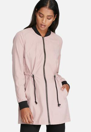 Jacqueline De Yong Avela Treasure Long Jacket Dusty Pink
