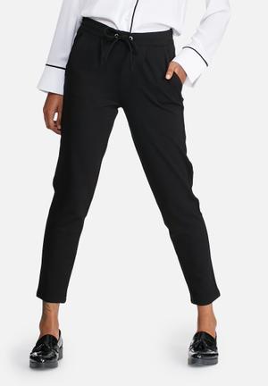 Jacqueline De Yong Pretty Ankle Pants Trousers Black