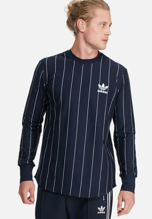 Adidas Originals TKO Tee T-Shirts Navy & White