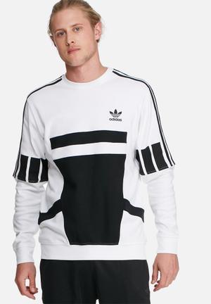 Adidas Originals Adi Crew Hoodies & Sweatshirts White & Black