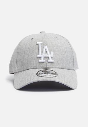 New Era 9Forty LA Dodgers Headwear Grey Melange