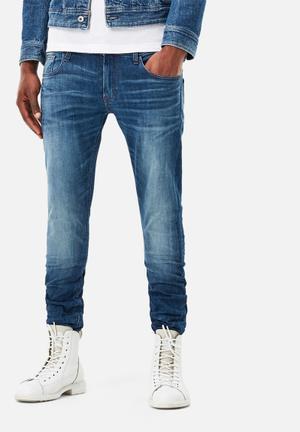 G-Star RAW 3301 Deconstructed Super Slim Jeans Blue