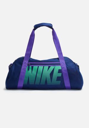 Nike Gym Club Bag Navy Blue, Purple & Mint