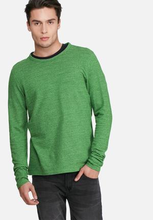 PRODUKT Lum Sweat Top Hoodies & Sweatshirts Green Melange