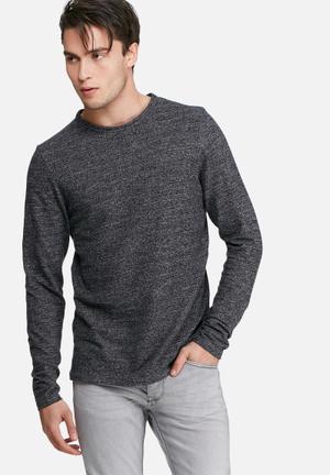 PRODUKT Lum Sweat Top Hoodies & Sweatshirts Black