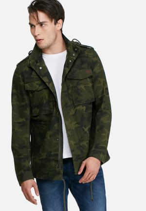 PRODUKT Parka Jacket Green Camo
