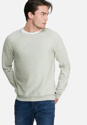 PRODUKT Sabbir Crew Knit Knitwear Grey Melange