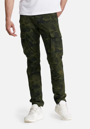 PRODUKT Canvas Cargo Pants Green Cargo